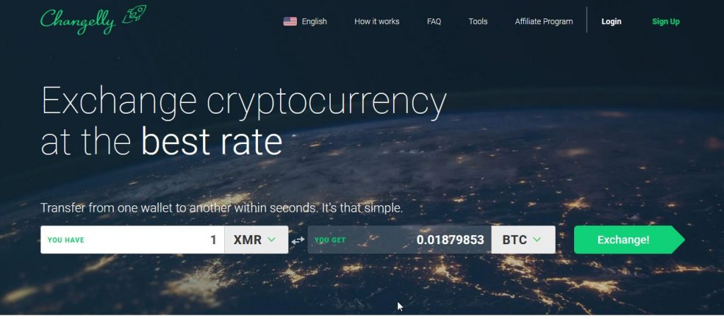 صرافی changelly ارزهای رمزپایه